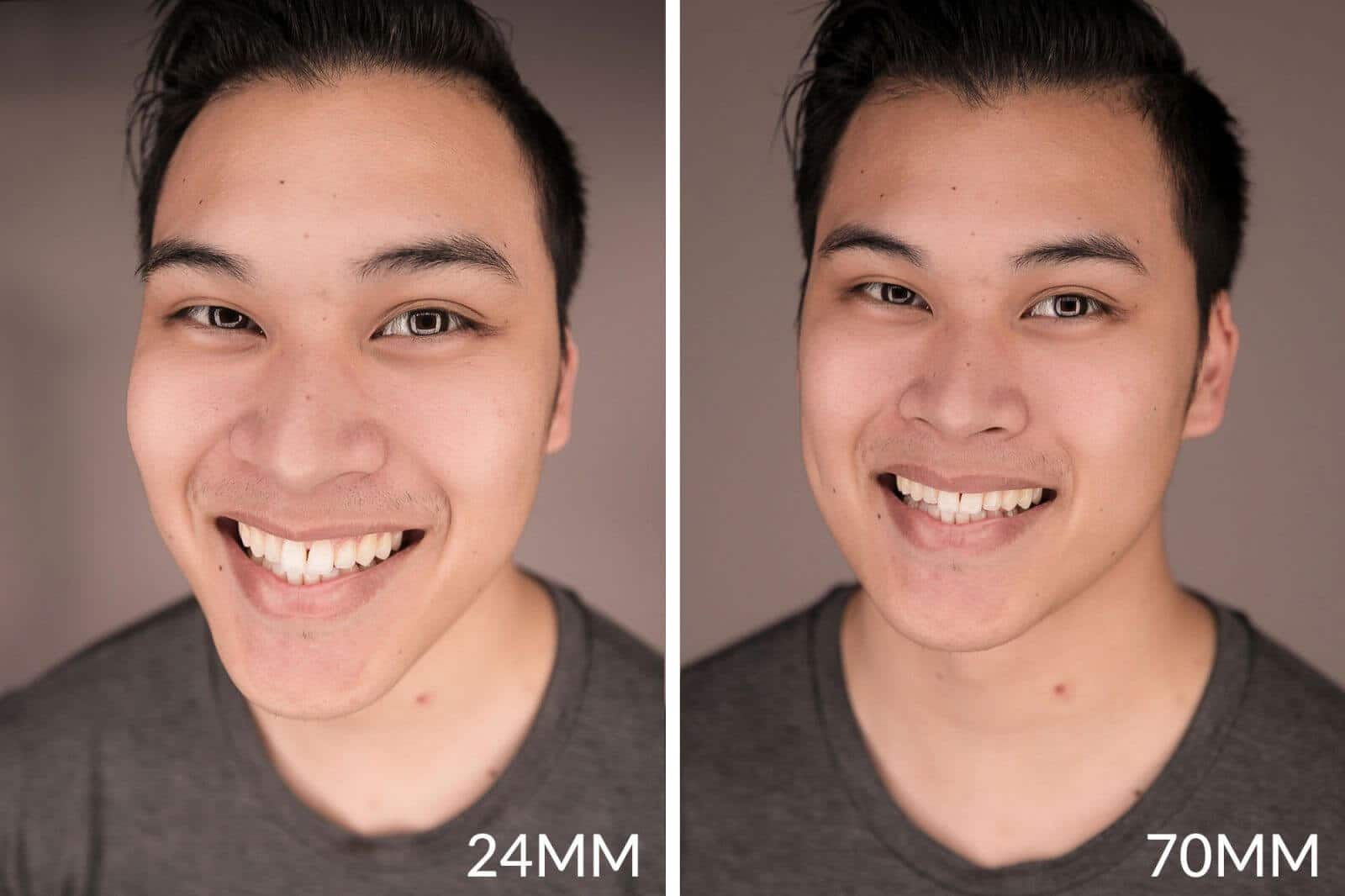 focal length difference in photography
