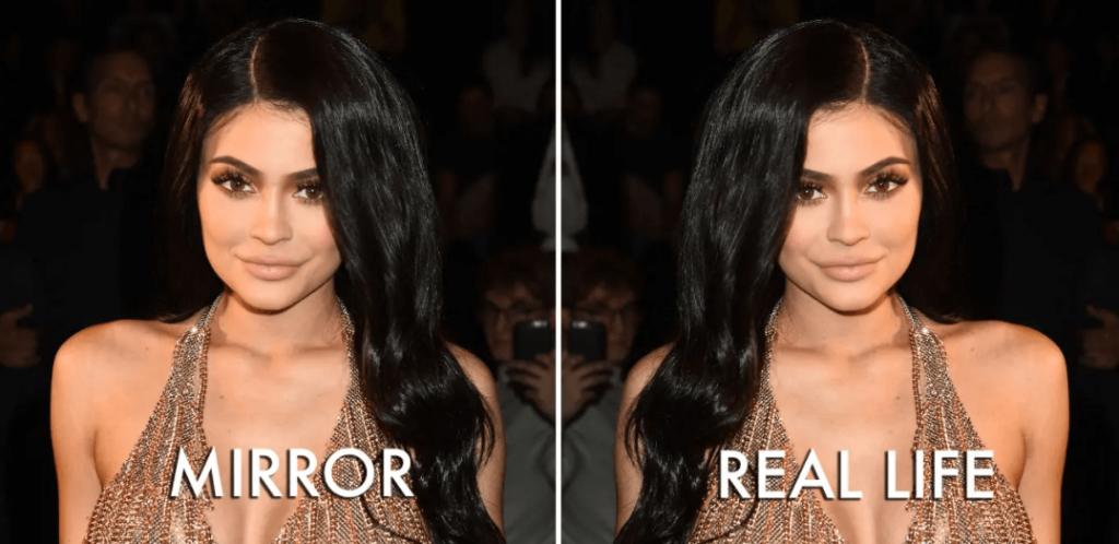 mirror vs real life